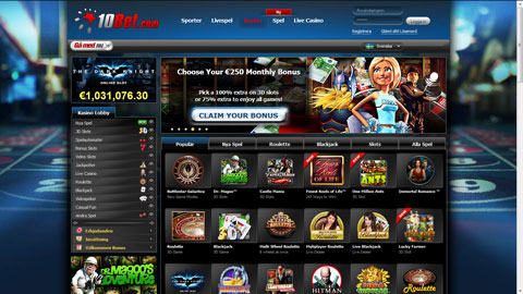 10 Bet casinospel