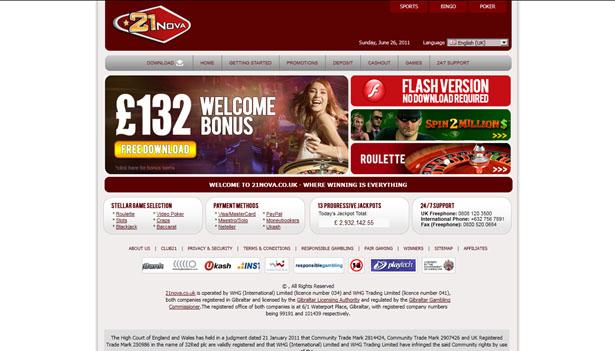 21 Nova casinospel