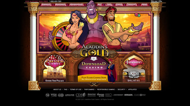 Aladdins Gold casinospel