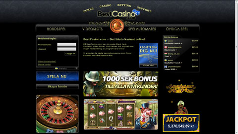 Best Casino casinospel