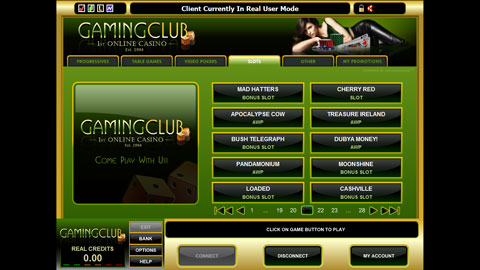 Gaming Club Casino casinospel