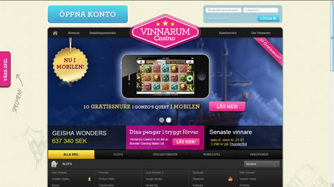 Vinnarum casinospel